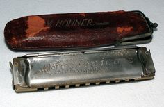 Hohner Hygienica with leather case | Flickr - Photo Sharing!