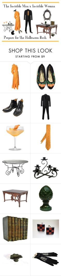 The Invisible Man & Invisible Woman Prepare for the Halloween Bash by anna-ragland on Polyvore featuring Estevez, Paul Smith, Yohji Yamamoto, modern, vintage, vintagejewelry, vintagefashion, vintagehalloween and vintagefinds