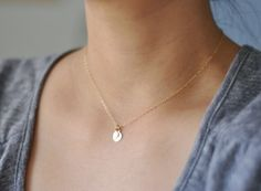 Lamina - textured golden brass double drops necklace - simple dainty jewelry $22.00