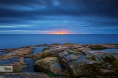 Rödhäll Sunrise v2 by MagnusL3D  blue nature nordic ocean outdoor rock rödhäll sea stone sunrise sverige sweden Rödhäll Sunrise v2 Ma