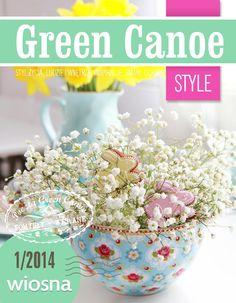 Green Canoe: my photos E Magazine, Crochet Flowers, Canoe, Decoration, Artsy, Crafty, Green, Handmade, Vases