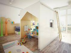 salle enfant avec meubles en bois