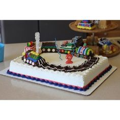 "Nordic Ware Train Pan--you can make each kid their own train car! I'd use pretzel sticks or licorice for the tracks plus I love the idea of using clear Rock Candy as the ""steam"" :) Trains Birthday Party, Train Party, Birthday Cake, Train Cupcakes, Polar Express Party, Family Cake, Pretzel Sticks, Nordic Ware, Rock Candy"