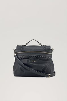 TWIN-SET Simona Barbieri  Small Cécile satchel with handle and shoulder  strap d522be35b3b