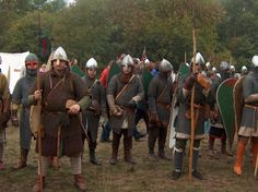 Recreation of the Battle of Hastings (via wikimedia commons)