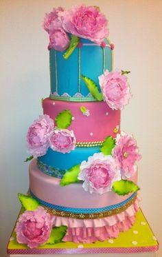 Beautiful Peony Cake