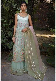 Designer Partywear Blue Net Palazzo Suit ROY282900 Regular price £71.90 GBP Sharara Suit, Pakistani Salwar Kameez, Kurti, Pakistani Suits Online, Fancy Suit, Suits Online Shopping, Palazzo Suit, Eid Collection, Indian Designer Wear