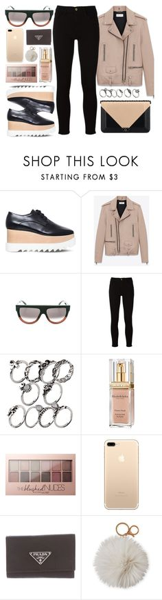 """Your Type"" by smartbuyglasses-uk ❤ liked on Polyvore featuring STELLA McCARTNEY, Yves Saint Laurent, Frame, Chanel, Elizabeth Arden, Maybelline, Prada, Dena, black and beige"