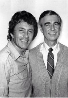 Bill Bixby and Mr. Rogers. The episode of Mr. Rogers that I remember most from my childhood had Bill Bixby and Lou Ferrigno.