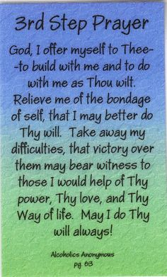 third step prayer | 3rd Step Prayer