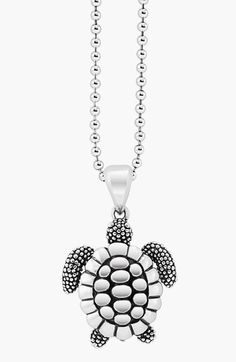 Free shipping and returns on LAGOS 'Rare Wonders - Turtle' Long Talisman Necklace at Nordstrom.com. A long ball chain suspends an intricately handcrafted turtle designed to symbolize friendliness.