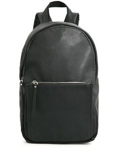 The leather just took this backpack from basic to too cool for school. // Backpack by MANGO