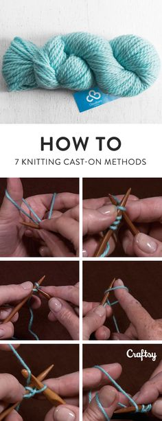 Try one of these free cast-on knitting tutorials for your next project!