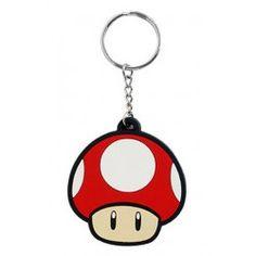 Llavero de caucho 'Champiñón' (Nintendo)