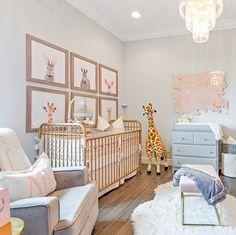 Decor For Kids® On Instagram: U201cThis Nursery Is Too Cute!!🦒💖Credit To  @interiorsbymccallu201d