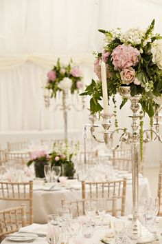 Beautiful soft pink and white themed wedding flowers