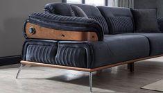 Living Room Sofa Design, Bedroom Furniture Design, Sofa Furniture, Luxury Furniture, Unique Wood Furniture, Single Sofa Chair, Minimalist Sofa, Sofa Styling, Modern Sofa