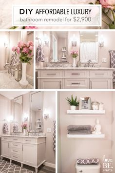 DIY affordable luxury how to remodel your bathroom with carrara marble white and grey