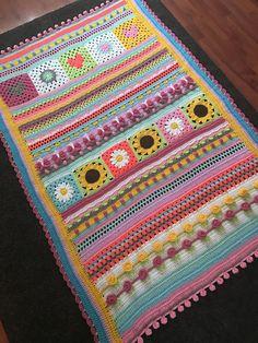Crochet 'Spitspot Summer Love Blanket' Crochet along (CAL) Crochet For Beginners Blanket, Baby Blanket Crochet, Crochet Baby, Crochet Blankets, Free Crochet, Granny Square Crochet Pattern, Afghan Crochet Patterns, Crochet Granny, Crochet Afghans