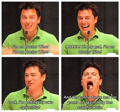 John Barrowman talks about his first episode.