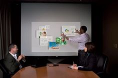 PicoMagic touch interactive and 3D mobile displays allows users to manipulate images and icons on any surface