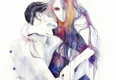 wakeful by agnes-cecile.deviantart.com  I am in love with this artist's work!! Such TALENT :-)