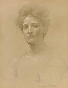 Study of a head, porEdwin Howland Blashfield
