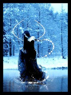Ice Queen by Chasing-Juniper on DeviantArt I Am A Queen, Snow Queen, Ice Queen, Gothic Cathedral, Water Ripples, Dark Night, Mystic, Digital Art, Fantasy