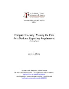 Computer Hacking: Making the Case for a National Reporting Requirement. Computer Hacking, Research Publications, Social Science, Anonymous, Hacks, Book, How To Make, Social Studies, Book Illustrations
