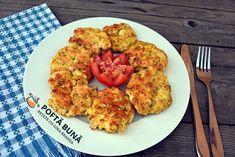 Chicken meatballs with parmesan or cheddar Romanian Food, Romanian Recipes, Tzatziki, Tandoori Chicken, Cheddar, Barbecue, Cauliflower, Parmezan, Dishes