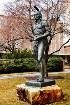 Native American Chief Massasoit...probably not at all what he looked like but at least they made an effort
