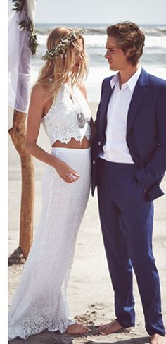 alice + olivia Samira Crop Top & Roth Maxi Skirt