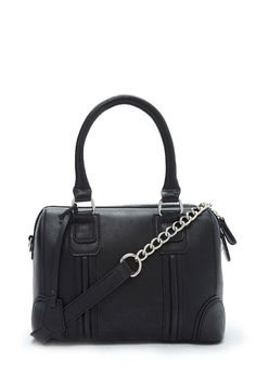 Structured Faux Leather Chained Crossbody | Forever 21 - 1000146679