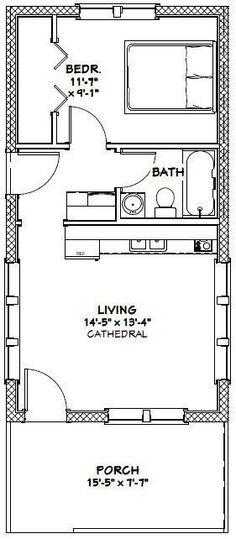 16x30 Tiny House -- #16X30H13 -- 480 sq ft - Excellent Floor Plans More