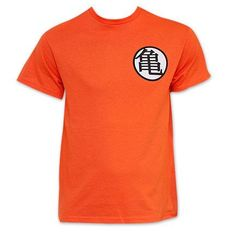 654630b7cb Dragon Ball Z Orange King Kai Goku Symbol Costume T-Shirt Camisetas  Personalizadas
