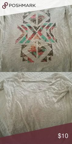 Shirt Trendy long sleeve tribal top.Multicolored so can be worn with many things.So cute but doesn't fit. Charlotte Russe Tops Tees - Long Sleeve