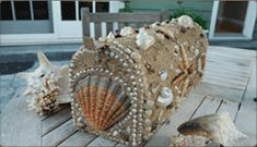 Allison Fiskin Designs - Home By THe Sea Collection - Shell Mailboxes