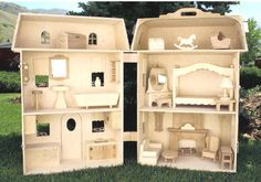 Barbie house plan with patterns for barbie furniture