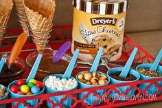 Super easy summer ice cream sundae bar.