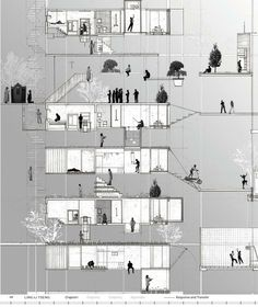 Conceptual Drawing, Responsive Architecture V.01 Ling-Li Tseng 2008
