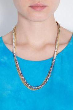 アリッサ ノートン 2013/SS ■ALYSSA NORTON■ Braided Silk With Chain Wrap Necklace | レディース - アクセサリー - ネックレス | 海外通販ならLASO(ラソ)