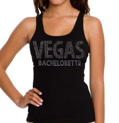If the Bride is getting married in Vegas or planning a Las Vegas Bachelorette Party, this rhinestone tank top will thrill her!  Just $17.99 at The House of Bachelorette!