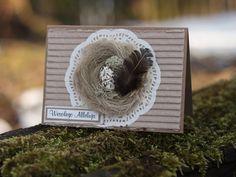 Handmade Easter card with bird nest Easter Card, Nest, Crochet Hats, Decorations, Bird, Handmade, Nest Box, Knitting Hats, Hand Made