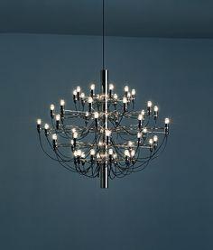 2097 Light 30 Arm Chandelier by Flos Lamp Design, Lighting Design, Ceiling Lamp, Ceiling Lights, Fashion Lighting, Light Fittings, Light Decorations, Icon Design, Pendant Lighting