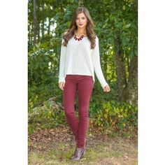 Red Dress Boutique - Play It Safe Sweater-Ivory - $44.00