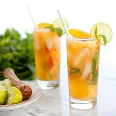 Ginger Peach Mojito Mocktail Recipe