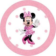 Minnie Mouse: Free Printable Toppers or Labels in pink. Minnie Mouse Template, Bolo Da Minnie Mouse, Minnie Mouse Stickers, Minnie Mouse Cake Topper, Minnie Mouse Images, Minnie Mouse Theme Party, Minnie Mouse Birthday Decorations, Theme Mickey, Minnie Mouse 1st Birthday