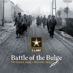 #ArmyHistory On this day in 1944, the #BattleOfTheBulge began as German forces launched a surprise counterattack against Allied forces through the Ardennes Forest in Belgium.  The battle, lasting nearly six-weeks, was one of the bloodiest and most costly of #WorldWarII.  For more on the battle:   http://www.army.mil/botb/  Pictured:  #USArmy Soldiers, assigned to 28th Infantry Division, march down a street in Bastogne, Belgium, Dec. 20, 1944.    U.S. Army photo & graphic