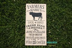 Farmers Market Sign Farmhouse Decor by HorsecreekPrimitives
