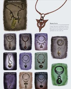 Amulets, From Skyrim